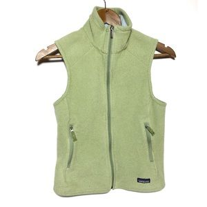 Patagonia Synchilla Green Full Zip Vest